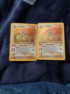 1999 2 of them Kabutops Fossil 6 and 9of 62 Excellent Condition Pokemon Card for Sale in Gresham, OR