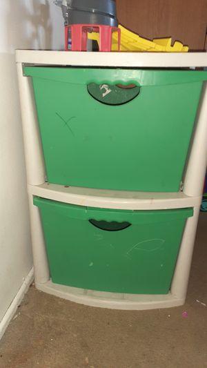 2 Drawer plastic Storage for Sale in Riverside, CA