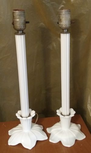 Vintage Milk Glass Table Lamp Set for Sale in Cleveland, OH
