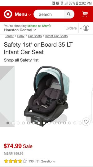 Safety 1st OnBoard 35 lt infant car seat for Sale in Houston, TX