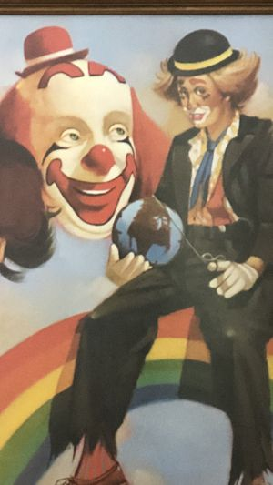 Vintage Chuck Oberstein Clown Picture for Sale in Bunker Hill, WV