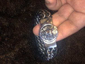 Lion head men's bracelet silver for Sale in Alexandria, VA