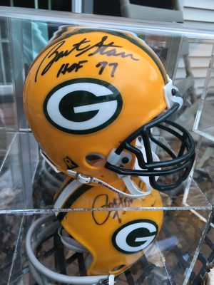 Green Bay Packer NFL Hall of Famers. Bart Starr and Paul Hornung autographed mini helmets for Sale in Oshkosh, WI