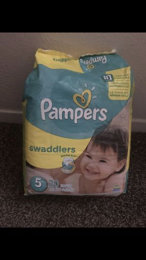 Pampers diapers Size 5 (44 diapers) for Sale in Garland, TX