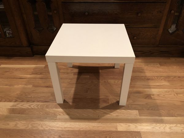 IKEA LACK Side table, white, 21 5/8x21 5/8 ""