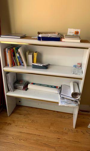 White dresser set- dresser, bookshelf, desk great for kids for Sale in North Potomac, MD