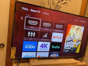 55 inch smart tv 4K roku TCL for Sale in Camden, NJ