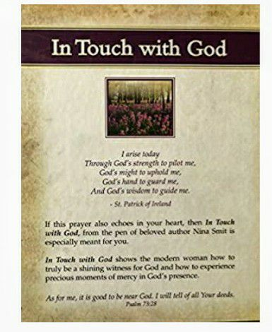 (NEW) Hardcover Inspiring book on faith In Touch With God