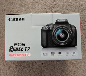 Brand NEW Canon - EOS Rebel T7 DSLR Camera with 18-55mm Lens - Black 24.1-megapixel CMOS sensor for Sale in Lorton, VA
