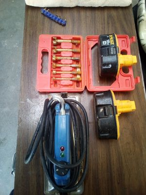 Batteries hear bond iron drill bits for Sale in Bedford, VA