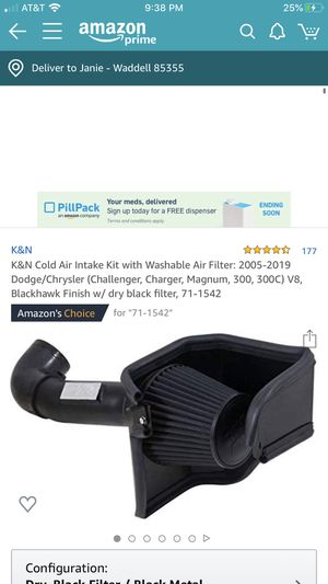 K&N CAI Cold Air Intake Challenger Charger 300 Magnum for Sale in Waddell, AZ