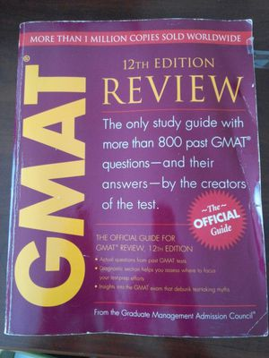 REDUCED!!!GMAT 12th Edition Review Guide book for Sale in Durham, NC