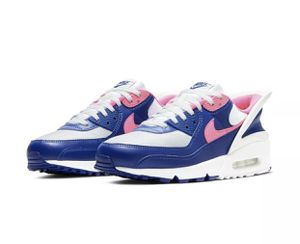Nike Air Max 90 Flyease Mens Shoes CU0814 101 Hyper Pink Deep Royal Blue Sz 10.5 for Sale in Newburg, MD