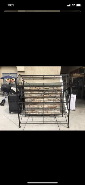 Commercial double sided shoe rack $60 for Sale in Las Vegas, NV