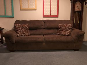 Sleeper sofa with over sized chair and ottoman. for Sale in Mulvane, KS