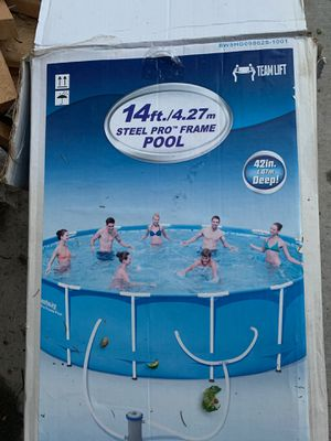 Frame for a 14ft by 42 inch best way pool FRAME ONLY NO LINER for Sale in Dearborn Heights, MI