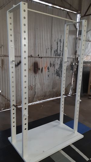 Heavy duty squat rack / gym / pesas / weights for Sale in Mesquite, TX