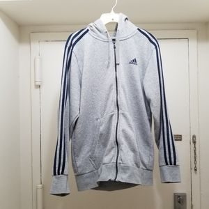 Mens ADIDAS gray hoodie size M for Sale in Reston, VA
