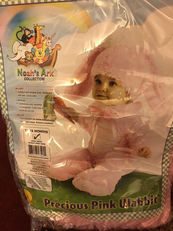 Pink rabbit costume size 12-18 months