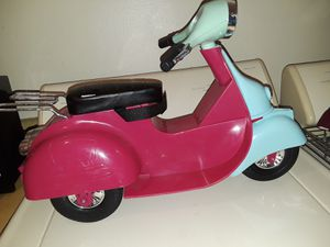 Our Generation scooter fits 18 in dolls, American girl. PRICE REDUCED! for Sale in BELLEAIR BLF, FL