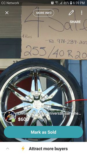 Rims and tires for sale for Sale in Lawrence, MA