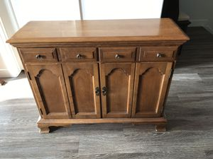 Antique cabinet and mirror for Sale in Lehi, UT