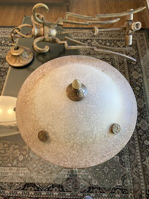Bronze Chandelier With Glass Bowl for Sale in Wheaton, IL