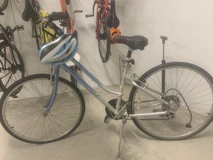 Cypress Giant women's comfort bike + Schwinn helmet + abus lock for Sale in Seattle, WA