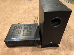 Onkyo 5.1 Dolby Surround / Digital DTS AV Receiver/Amplifier & Subwoofer for Sale in Sterling Heights, MI