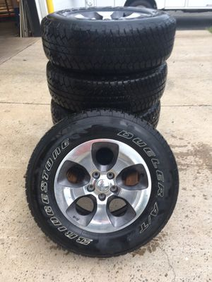 BARELY USED 5 wheels/tires for 2016 Jeep Wrangler for Sale in Gainesville, VA
