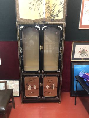 Antique Japanese per glass cabinet for Sale in Camden, NJ
