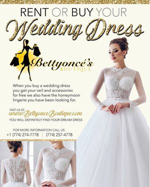 Rent or buy a wedding dress for Sale in Brockton, MA