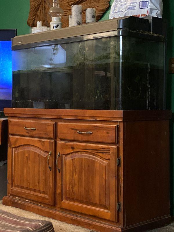 Aquarium and Stand - 87 gallon