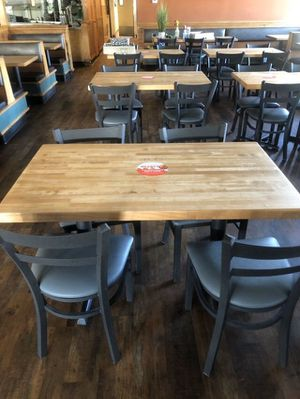Butcher block wooden table for restaurants for Sale in Garden Grove, CA