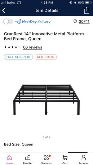 14in metal bed frame for Sale in Rossville, GA