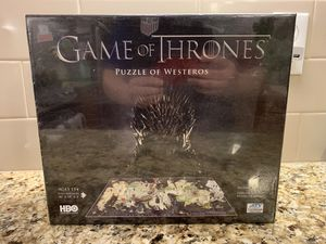 4D Cityscape Game of Thrones: Westeros Puzzle (1,400+ pcs; 65+ buildings) *NEW* for Sale in Seattle, WA