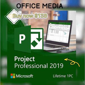 Microsoft project professional 2019 for Sale in Los Angeles, CA