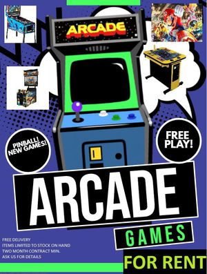 RENT PINBALL & ARCADE GAMES! for Sale in Tualatin, OR
