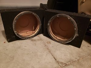 "2 12"" shallow speaker boxes (with wires and spacers) for Sale in Winter Haven, FL"