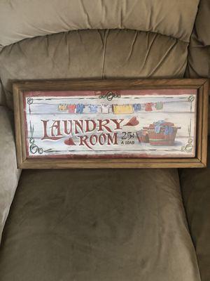 Laundry Room Sign for Sale in Hampton, VA