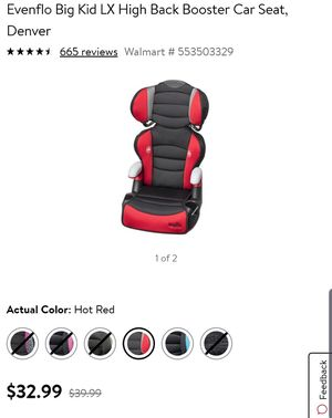 evenflo car seat and booster for Sale in Fort Worth, TX