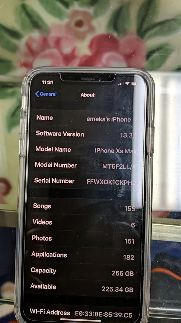 Xfinity iPhone xs Max 256GB