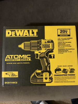 Dewalt Atomic compact series 20volt Drill/driver/hammer for Sale in Philadelphia, PA