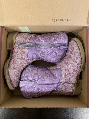 Roper Girls Lavender Western Boots Toddlers Size 6 for Sale in Lemont, IL