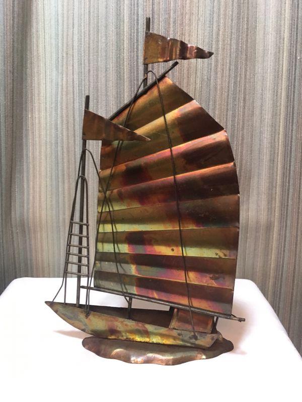 Bronze sailboat decor
