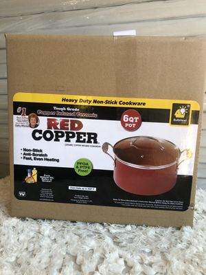 Red copper 6 qt.pot for Sale in San Diego, CA