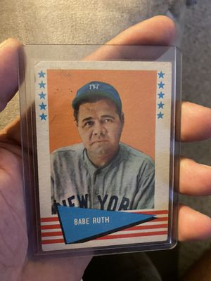 Babe Ruth 1961 Fleer Authentic Baseball Card for Sale in North Olmsted, OH