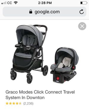 Graco Modes click connect travel in black and grey for Sale in Santa Maria, CA