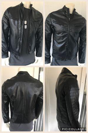 Black leather jacket size M for Sale in Atlanta, GA