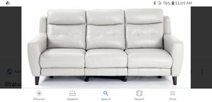 Silver/Gray Leather Recliner Sofa for Sale in Philadelphia, PA